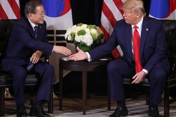 گفتگوی ترامپ و مون پیرامون کره شمالی و تقسیم هزینه نظامی