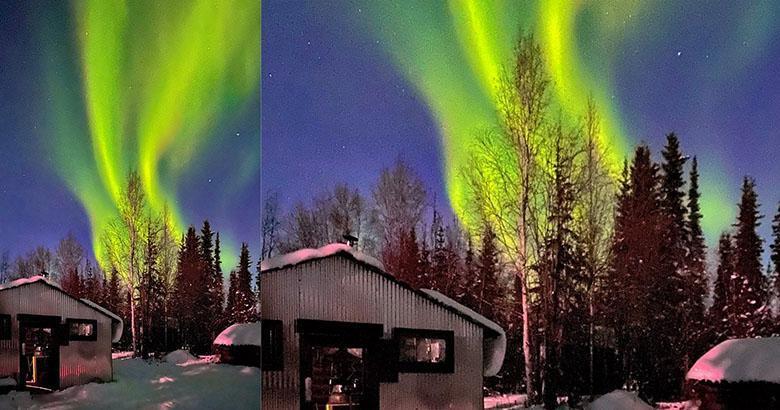 نورها و شفق شمالی با آیفون 11 چطور به نظر می رسند؟